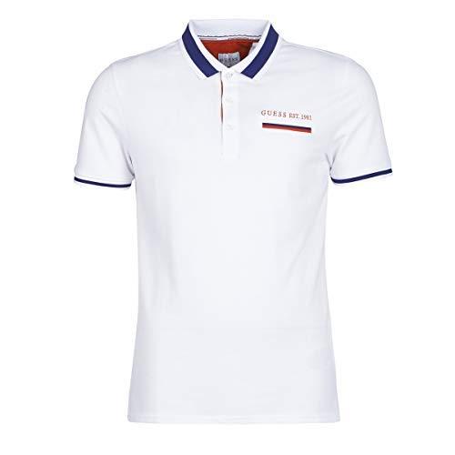 Guess Jeffrey T-Shirts & Poloshirts Herren Weiss - XL - Polohemden
