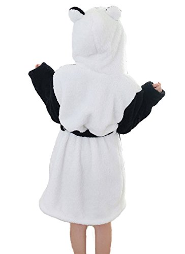 DELEY Unisex Coppia Donne Animale Corallo In Pile Caldo Con Cappuccio Accappatoi Abiti Vestaglia Pigiameria Cosplay Costume Panda