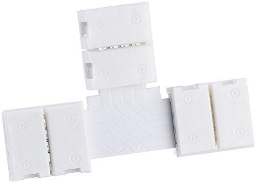 Lunartec Zubehör zu SMD-LED-Bänder: T-Verbindungsstück für Indoor-LED-Streifen (RGB) der Serie LC (LED Strips)