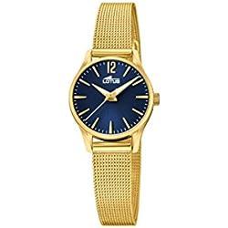 Lotus Watches Reloj Análogo clásico para Mujer de Cuarzo con Correa en Acero Inoxidable 18572/3