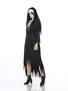 Karnival Costumes- Halloween Demon Nun Disfraz, Color negro, extra-large (84211)