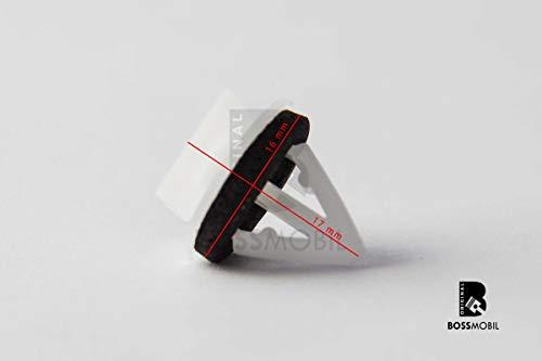 Original BOSSMOBIL kompatibel mit TÜRVERKLEIDUNG CLIPS KLAMMERN MIT DICHTUNG TUCSON IN WIEß 87702-H1000#NEU# 15X X 12 X 11,5 mm Menge: 10 Stück -