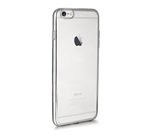 Bumper pour iPhone 6S Plus Étui luxe aspect cristal galvanoplastie Technologie aspect métal, Gunmetal, 158.1x77.8x7.1mm argent