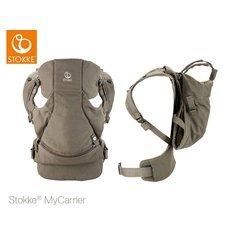 Stokke - Mochila portabebés mycarrier frontal y trasera marrón