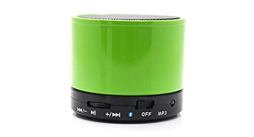 RASU Eye Catching Speaker with feature of Feet Taping Music sound ||Super Sound ||Deep Bass ||Innovative Design ||Newest Design ||new edge technology ||Rechargeable Battery Bluetooth Speaker LED Wireless Bluetooth Speaker handsfree Calling Feature FM Radio & SD Card Slot , S10 GREEN Compatible with Ambrane AC-770  available at amazon for Rs.599
