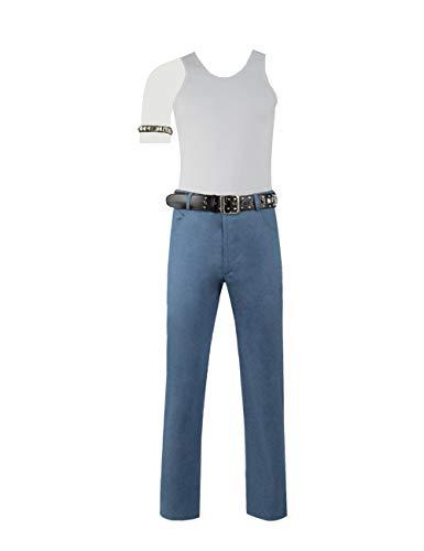 Zhangjianwangluokeji Rhapsody Queen Freddie Mercury Cosplay Kostüm im Set mit Nietenbesetztem Armschutz Nietenbesetzter Ledergürtel (Maßanfertigung, Stil 1) (Queen's Guard Kostüm)
