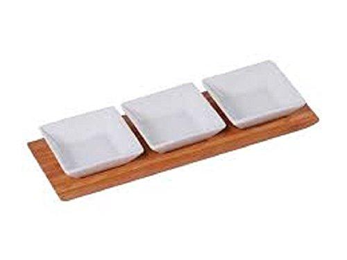 MK Bamboo München Dip-Schalen Set aus Bambus Geschenkidee 4 teilig Küchenhelfer