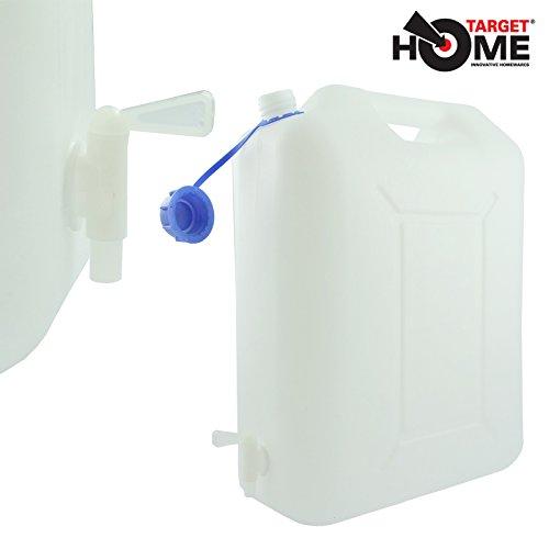 target-homewaresr-20l-tanica-per-acqua-con-rubinetto-ideale-per-auto-roulotte-giardino-ecc