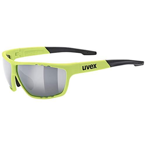 uvex Unisex- Erwachsene, sportstyle 706  Sportbrille, neon yellow mat, one size