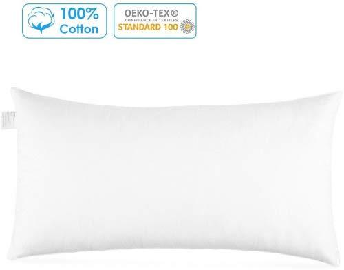 Homfa Wasserkissen 40 x 80 cm Kissen Kopfkissen Schlafkissen Nackenkissen Nackenstützkissen,weiß (Typ2)