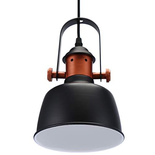 Glighone Pendelleuchte Esszimmerlampe Hängelampe Industrial Retro Pendellampe Lampenschirm Deckenleuchte Hängend Vintage Lampe E27 für Wohnzimmer Schlafzimmer Esstisch Küche Bar usw.