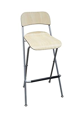 Fixture Displays Folding High Chair Bar Stool Folding Wood Metal Chair Two-Pack 11036 11036 - inexpensive UK light shop.