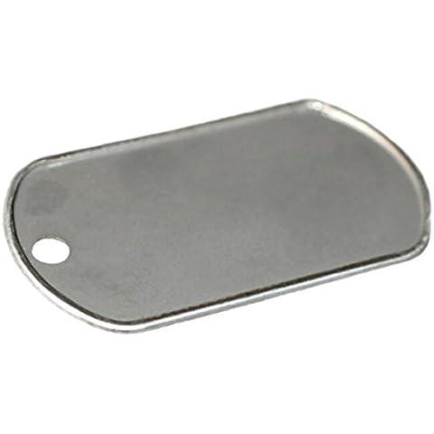 Acciaio inossidabile militari, Dog Tag con bordo bianco 12pcs