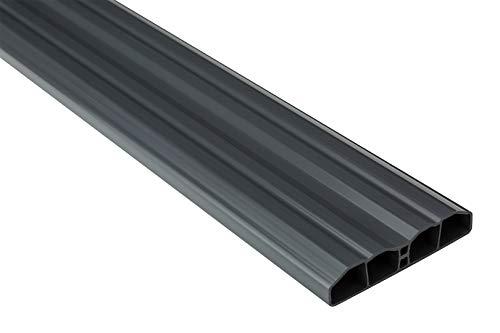 Zaunlatten Sparpaket PZL-31 | widerstandsfähiges Hart-PVC | Kunststoffzaun | Balkonbretter | pflegeleicht | Graphit modern | 80 x 16 mm | Hexim | 20 Meter