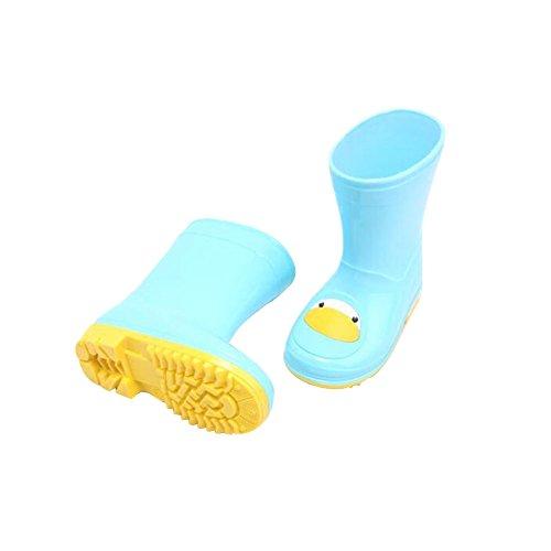 Haodasi Fashion Unisex Rutschfest Kinder Jungen Mädchen Rain Boots Regen Stiefel Wasserdicht Rain Shoes Rubberboots Regen Schuhe Blue