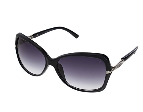 Vast UV Protection Crystal Womens Sunglasses (1435BK|56|Grey Lens )...