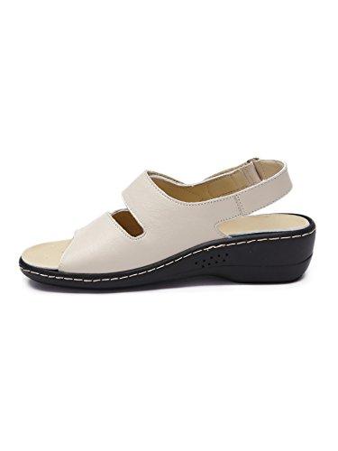 Pediconfort - Sandales à semelle amovible Beige/Dore