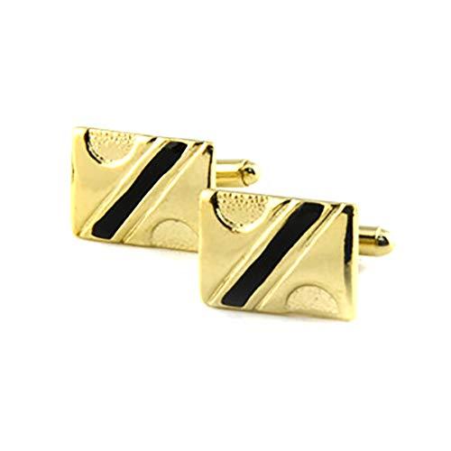 Lumanuby 1Coppia Strisce e semicircolare Gemelli per uomo rettangolo Cufflinks con Geometria su adatto per Daily Wear o business...