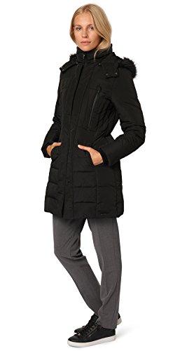 TOM TAILOR Damen Mantel Feminine Puffer Coat Schwarz