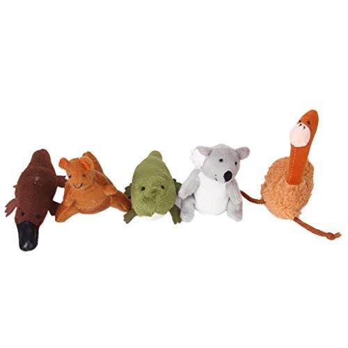 Ogquaton 5 Marionetas Dedo Animales únicos Australia: