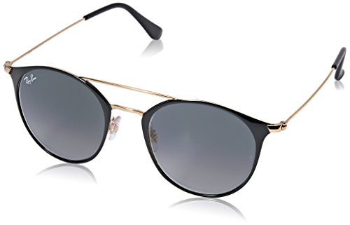 RAYBAN JUNIOR Unisex-Erwachsene Sonnenbrille RB3546 Gold Top Black/Greygradient, 49