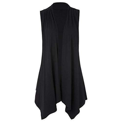 Availcx Mode Frauen Basic Mäntel Lässige Baumwolle Jacken Ärmellose Asymmetrische Saum Öffnen Stitch Blouson Femme Bomber Mantel...