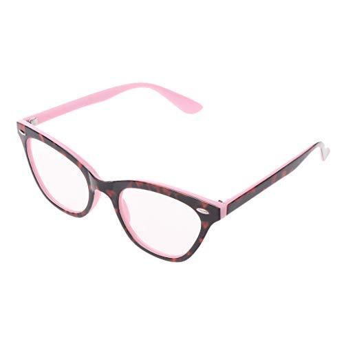 Eliky Frauen Katzenauge Lesebrille Blumendruck Vintage Brillen Klare Linse