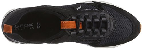 Geox D SUKIE B Damen Sneakers Schwarz (C9211ANTHRACITE/BLACK)