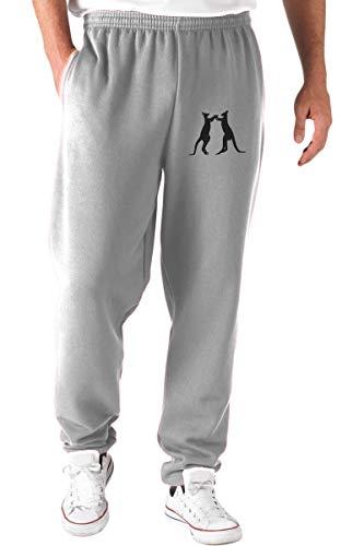 Speed Shirt Jogginghose Grau WES0522 Kangaroos Silhouette