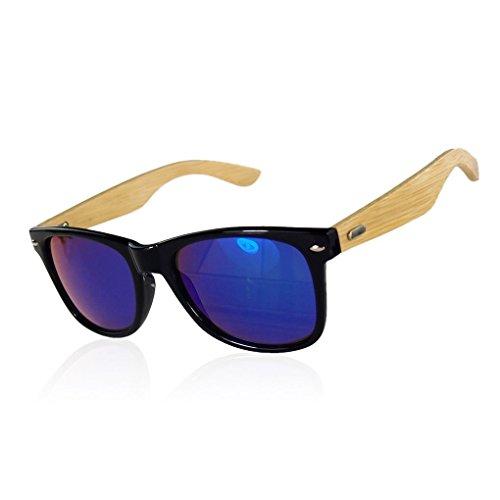 Provide The Best Frauen Männer Bambus Leg große Feld-Sonnenbrille UV400 Outdoor-Brillen