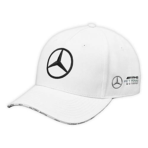 Mercedes AMG Petronas F1 Driver Valtteri Bottas Gorra Blanco Oficial 2