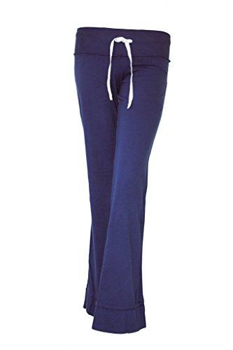 Pantalon de sport pour femme avec revêtement lotus-print de méditation chakura kimono by kU Bleu - Bleu marine