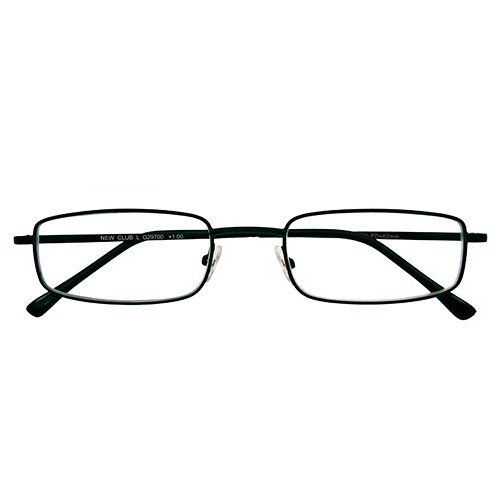 I NEED YOU Lesebrille Club L / +4.00 Dioptrien / Schwarz