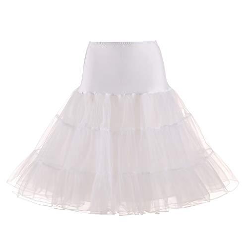 t Mädchen Reifrock Ballettrock Taille Gaze Tutu Normallack Prom Grundmodelle Unterrock Underskirt Krinoline für Rockabilly Kleid ()