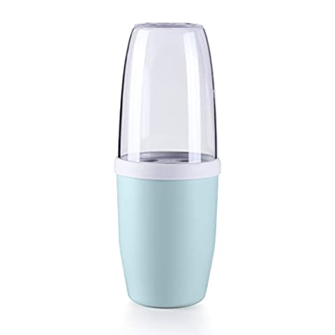 UPSTYLE Portable Unbreakable Plastic Toothbrush and Toothpaste Holder Couple Bathroom Organizer Can Use for Tooth Mug Gargle Cup Size 400 ml