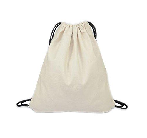 LAAT Bolsa y mochila de tela de algodón unisex para niños o adolescentes, diseño con dibujos de animales...