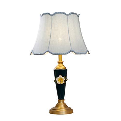 Lampes de table en Céramique en Cuivre Américain Simple Creative Salon Chambre Lampe De Chevet Mariage Chaud Romantique