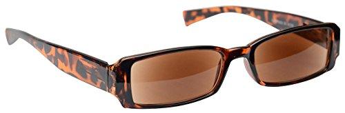 Pretty Smart Glasses Sonne Leser Lesebrille Sonnenbrille Damen Herren Braun Schildpatt UVSR003+ 1,50