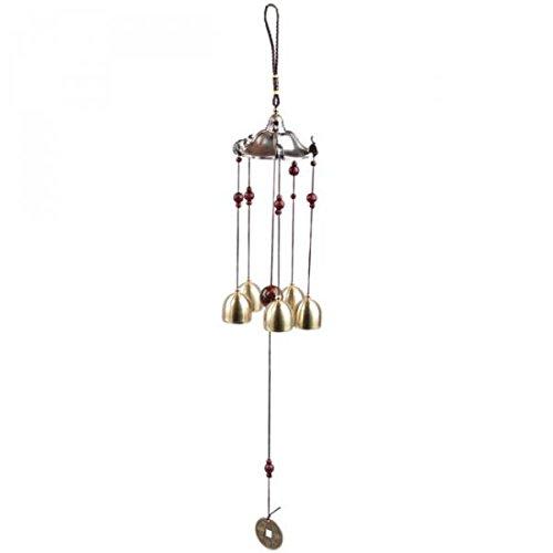Sharplace Metall Windspiel Klangspiel Wind Glockenspiel Hängen Windspiel Wind Chimes Dekoration - Pavillon, 50cm