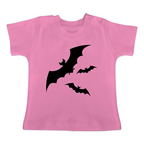 Anlässe Baby - Fledermäuse - 1-3 Monate - Pink - BZ02 - Baby T-Shirt Kurzarm
