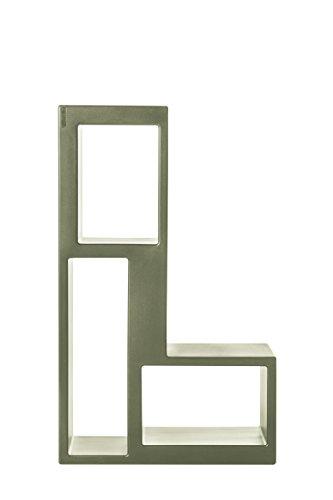 L'Aquila Design Arredamenti CASAMANIA libreria Urban struttura in verde portata 200kg zona soggiorno