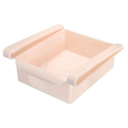 GHFKXTN Kühlschrank Regal Rack Halter Küche Slide Kühlschrank Gefrierschrank Space Saver Organizer Storage Rack ausziehbare Schublade Essen - Für Rack Gefrierschrank Metall