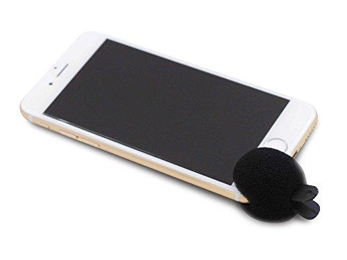 Networx Noise Blocker, Windschutz für Smartphone-Mikrofon, schwarz
