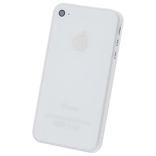 doupi UltraSlim Case iPhone 4 4S fin mat ultra mince et ultra léger Bumper Cover Housse de Protection Shell Coque - bleu Blanc
