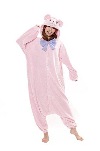 Teddybären Kostüm - SAZAC Kigurumi Teddybär Teddy Kostüm Pyjama Overall (Pink)