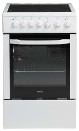 Beko CSS 57100 GW Autonome Céramique A Blanc four et cuisinière - Fours et cuisinières (Cuisinière, Blanc, Rotatif, Céramique, acier émaillé, Electrique)