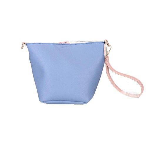 LETTER® Handtasche Große Kapazität Crossbody Tasche Einkaufen Eimer Frauen Strap Schultertasche Blau