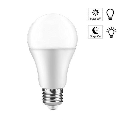 Winbang LED-Leuchtmittel, 7 W, E27, Sensor-Leuchtmittel, Dämmerung zu Dämmerung/Morgendämmerung / Automatisches An-/Aus-Leuchtmittel für Veranda, Flur, Terrasse, Garage, Kaltweiß
