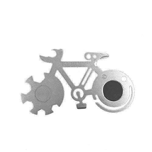 LANVY Outdoor Mountainbike Multi Tool Karte, Multifunktionsfahrrad Werkzeug mit Spiegelschlüssel Zum Wandern Von Camping (Emt Kostüm Kind)