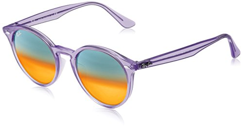 Ray-Ban RB2180F Sunglasses Shiny Violet / Brown Mirror Red Gradien Silve 49mm